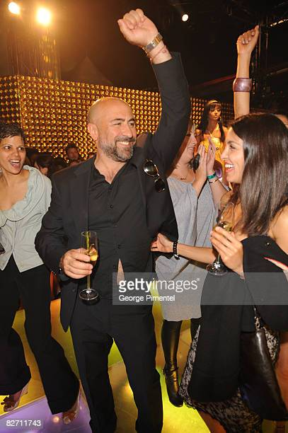 Actors Carlo Rota and Nazneen Contractor attend the MAC GOLD FEVER AFTER PARTY at the Chum/City Building on September 7 2008 in Toronto Canada