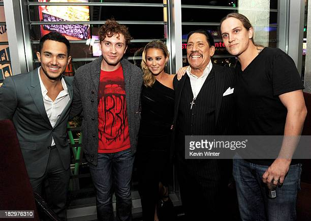 Actors Carlos Pena Jr Daryl Sabara Alexa Vega Danny Trejo and Jason Mewes pose at the after party for the premiere of Open Road Films' 'Machete...