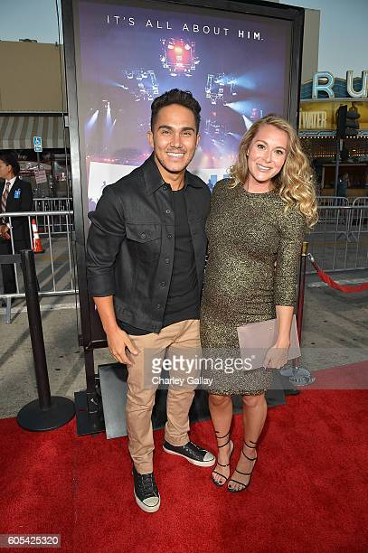 Actors Carlos PenaVega and Alexa PenaVega attends the Hillsong Let Hope Rise premiere at the Westwood Village theater on September 13 2016 in Los...