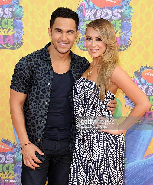 Actors Carlos PenaVega and Alexa Vega arrive at Nickelodeon's 27th Annual Kids' Choice Awards at USC Galen Center on March 29 2014 in Los Angeles...