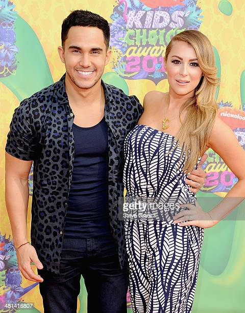 Actors Carlos PenaVega and Alexa Vega attend Nickelodeon's 27th Annual Kids' Choice Awards held at USC Galen Center on March 29 2014 in Los Angeles...