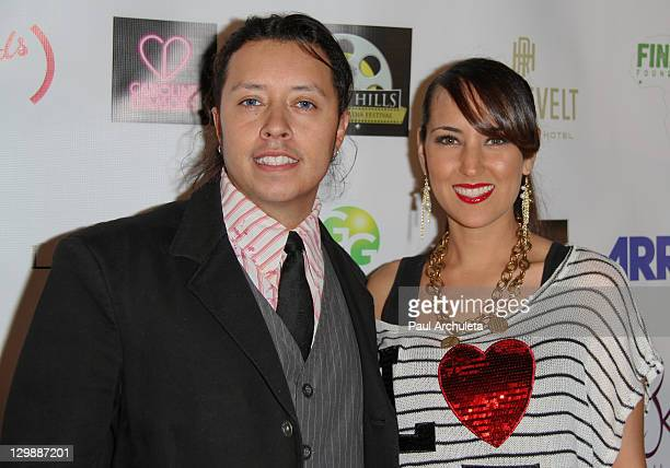 Actors Carlos Ramirez and Burgandi Phoenix attends the 2nd Annual Beverly Hills Film TV New Media Festival at Hollywood Roosevelt Hotel on October 20...