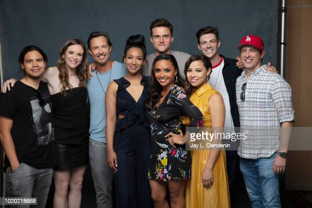 Actors Carlos Valdes Danielle Panabaker Tom Cavanagh Candice Patton Danielle Nicolet Hartley Sawyer Jessica Parker Kennedy Grant Gustin and Todd...