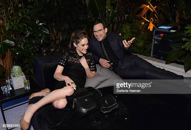 Actors Carly Chaikin and Christian Slater attend the 2016 GQ Men of the Year Party at Chateau Marmont on December 8 2016 in Los Angeles California
