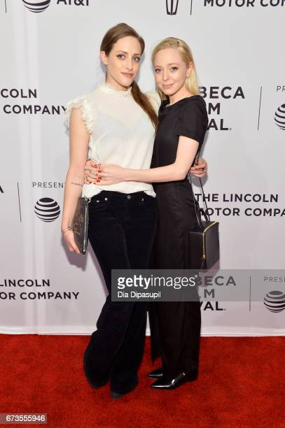 Actors Carly Chaikin and Portia Doubleday attend the Buster's Mal Heart Premiere during 2017 Tribeca Film Festival on April 26 2017 in New York City