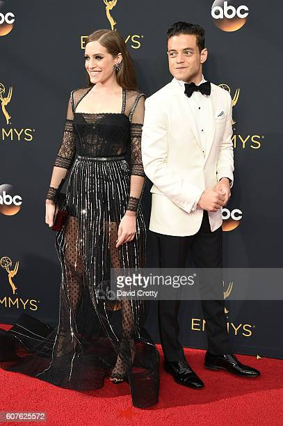 Actors Carly Chaikin and Rami Malek attend the 68th Annual Primetime Emmy Awards at Microsoft Theater on September 18 2016 in Los Angeles California