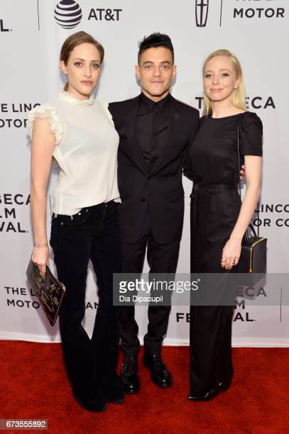 Actors Carly Chaikin Rami Malek and Portia Doubleday attend the Buster's Mal Heart Premiere during 2017 Tribeca Film Festival on April 26 2017 in New...