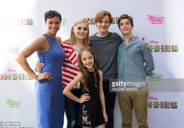Actors Carly Hughes Meg Donnelly Julia Butters Logan Pepper and Daniel Dimaggio attend the Disney Channel Original Movie 'Zombies' Premiere Brunch on...