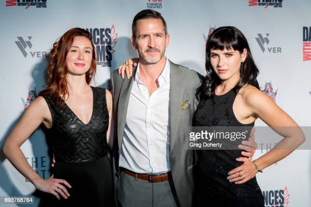 Actors Carly Turro Shad Adair and Marzy Hart attends the Landing Up World Premiere during 20th Annual Dances With Films at TCL Chinese 6 Theatres on...