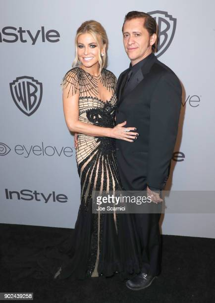 Actors Carmen Electra and Clifton Collikns Jr attend the 2018 InStyle and Warner Bros 75th Annual Golden Globe Awards PostParty at The Beverly Hilton...
