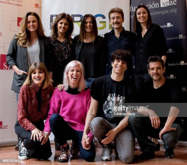 Actors Carmen Morales, Monica Cruz, Eva Santolaria, Victor Cavidjo, Dafne Fernandez, Angy Fernandez , Javier Calvo and Hugo Hortelano attends the...