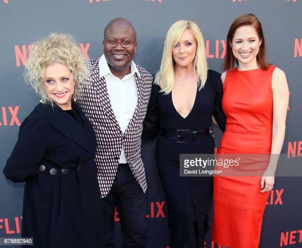 Actors Carol Kane Tituss Burgess Jane Krakowski and Ellie Kemper attend Netflix's Unbreakable Kimmy Schmidt For Your Consideration event at Saban...