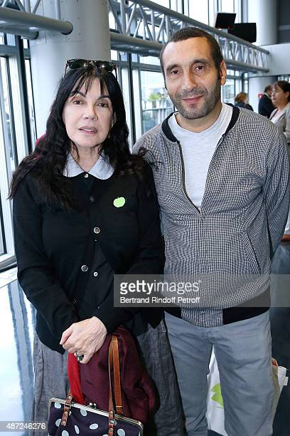 Actors Carole Laure and Zinedine Soualem attend the Inauguration of the 'Osiris Mysteres Engloutis d'Egypte' at Institut du Monde Arabe by the...