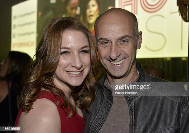 Actors Caroline Bernstein and David Marciano attend the TV Guide Magazine's Hot List Party at Emerson Theatre on November 4 2013 in Hollywood...