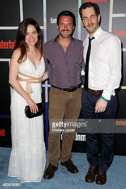 Actors Caroline Dhavernas Raul Esparza and Aaron Abrams arrive at Entertainment Weekly's Annual Comic Con Celebration at Float at Hard Rock Hotel San...