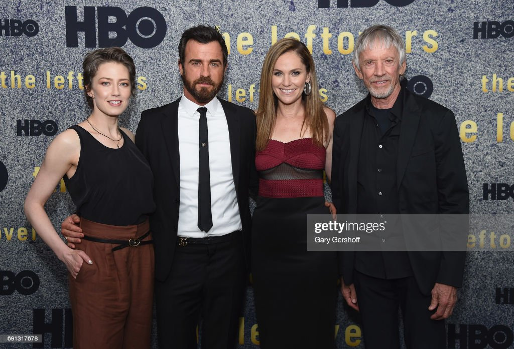 Actors Carrie Coon, Justin Theroux, Amy Brenneman and Scott Glenn attend 'The Leftovers' screening at Metrograph on June 1, 2017 in New York City.