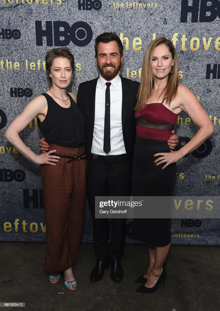 Actors Carrie Coon, Justin Theroux and Amy Brenneman attend 'The Leftovers' screening at Metrograph on June 1, 2017 in New York City.