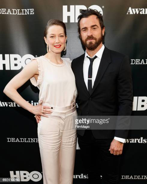 Actors Carrie Coon Nora Durst and Justin Theroux Kevin Garvey attend HBO's The Leftovers FYC on June 4 2017 in Los Angeles California