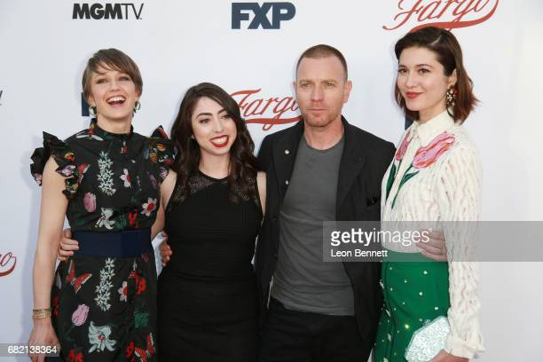 Actors Carrie Coon Olivia Sandoval Ewan McGregor and Mary Elizabeth Winstead arrives at FX's 'Fargo' For Your Consideration Event at Saban Media...