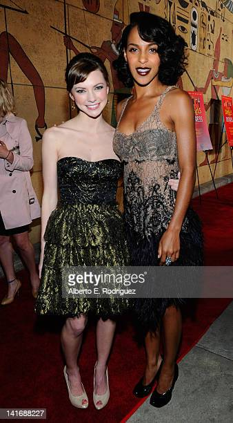 Actors Carrie MacLemore and Megalyn Echikunwoke arrive to the Premiere of Sony Pictures Classics' Damsels In Distress at the Egyptian Theatre on...