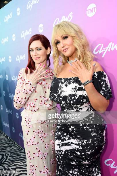 Actors Carrie Preston and Jenn Lyon attend the premiere of TNT's Claws at Harmony Gold Theatre on June 1 2017 in Los Angeles California 27059_001