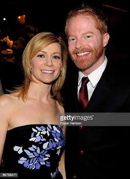 Actors Carrie Preston and Jesse Tyler Ferguson attend the Tenth Annual AFI Awards 2009 held at Four Seasons Beverly Hills on January 15 2010 in Los...