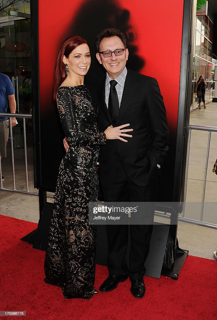 Actors Carrie Preston and Michael Emerson arrive at HBO's 'True Blood' season 6 premiere at ArcLight Cinemas Cinerama Dome on June 11, 2013 in Hollywood, California.