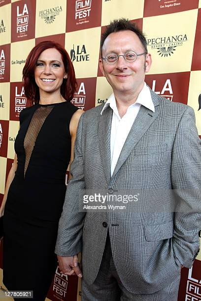 Actors Carrie Preston and Michael Emerson arrive at the 2011 Los Angeles Film Festival opening night premiere of Bernie held at Regal Cinemas LA Live...