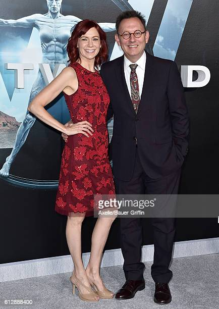 Actors Carrie Preston and Michael Emerson arrive at the premiere of HBO's 'Westworld' at TCL Chinese Theatre on September 28, 2016 in Hollywood,...