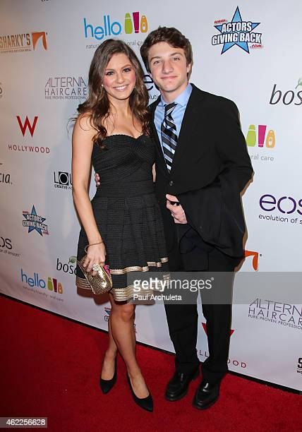 Actors Carrie Wampler and Jake Short attend Paris Berelc 'Sweet Sixteen' Birthday Party at the loft and rooftop Wet Deck at The 'W' Hotel Hollywood...