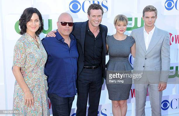 Actors CarrieAnne Moss Michael Chiklis Jason O'Mara Sarah Jones and Taylor Handley arrive at the 2012 CBS Showtime and The CW TCA Summer Party at...