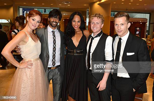 Actors CarrieLynn Neales Raymond Ablack Amanda Brugel Max Topplin and Chad Connell attend the Birks Diamond Tribute to the year's Women in Film...