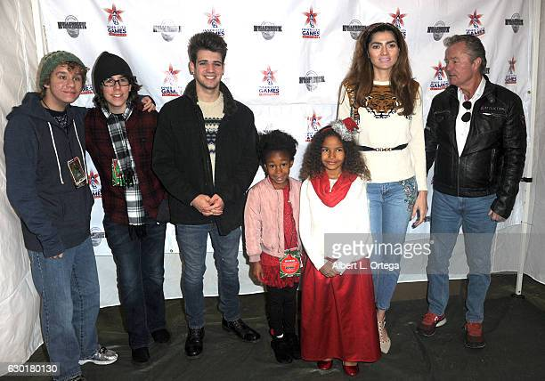 Actors Carsen Warner Zachary Haven Brandon Tyler Russell Destiny Toliver Kaya Rose Davis Blanca Blanco and John Savage at the 35th Annual Miracle On...