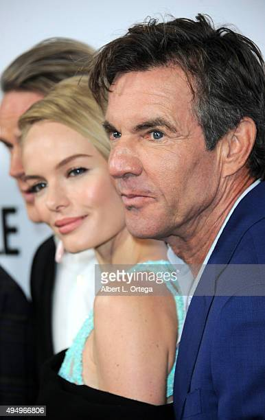 Actors Cary Elwes Kate Bosworth and Dennis Quaid arrive for the Premiere Of Crackle's 'The Art Of More' held at Sony Pictures Studios on October 29...