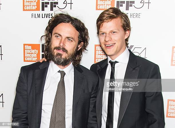 Actors Casey Affleck and Lucas Hedges attend the 54th New York Film Festival 'Manchester by the Sea' World Premiere at Alice Tully Hall at Lincoln...