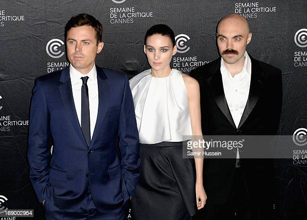 Actors Casey Affleck Rooney Mara and writer/director David Lowery poses during the 'Ain't Them Bodies Saints' Photocall during The 66th Annual Cannes...