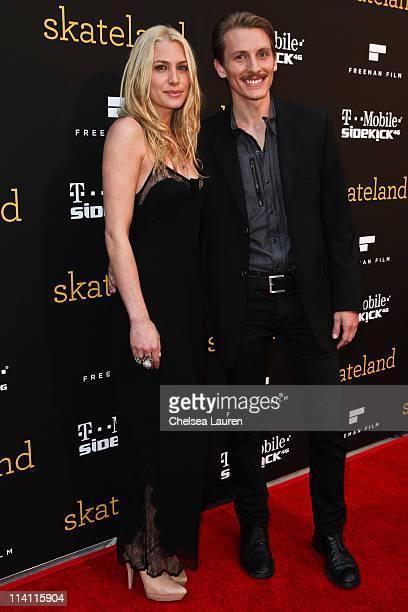 Actors Casey LaBow and James Hebert arrive at the 'Skateland' premiere at ArcLight Cinemas on May 11 2011 in Hollywood California