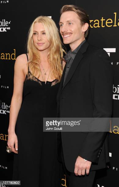Actors Casey LaBow and James Hebert arrive for the 'Skateland' premiere on May 11 2011 in Hollywood California