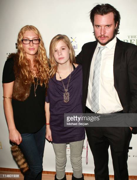 Actors Casey LaBow Caroline Horn and Heath Freeman attend the 'Skateland' cast and crew dinner at the Green Lodge Supper Club on January 24 2010 in...
