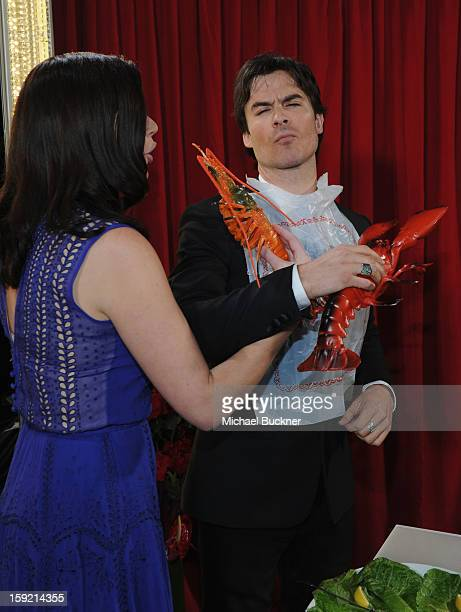 Actors Casey Wilson and Ian Somerhalder attend the 39th Annual People's Choice Awards at Nokia Theatre LA Live on January 9 2013 in Los Angeles...