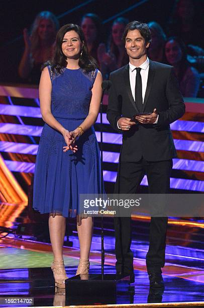 Actors Casey Wilson and Ian Somerhalder onstage during the 2013 People's Choice Awards at Nokia Theatre LA Live on January 9 2013 in Los Angeles...