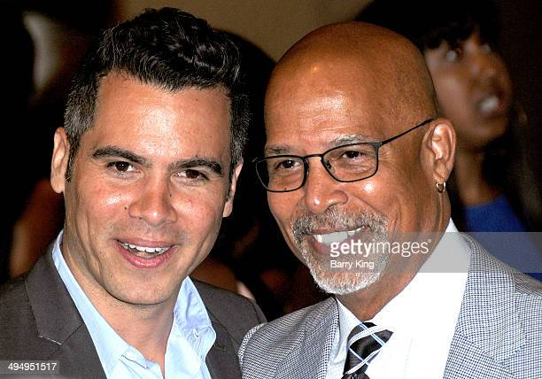 Actors Cash Warren and Michael Warren arrive at The Helping Hand Of Los Angeles Mother's Day Luncheon on May 9, 2014 at The Beverly Hilton Hotel in...