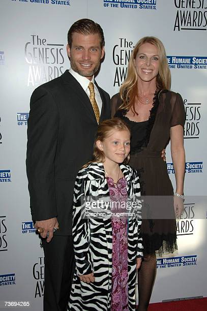 Actors Casper Van Dien and Catherine Oxenberg pose with their daughter Grace at the 21st Genesis Awards presented by The Hollywood Humane Society at...