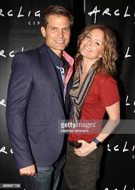 Actors Casper Van Dien and Dina Meyer attend the Arclight Presents screening of Starship Troopers at ArcLight Hollywood on August 25 2016 in...