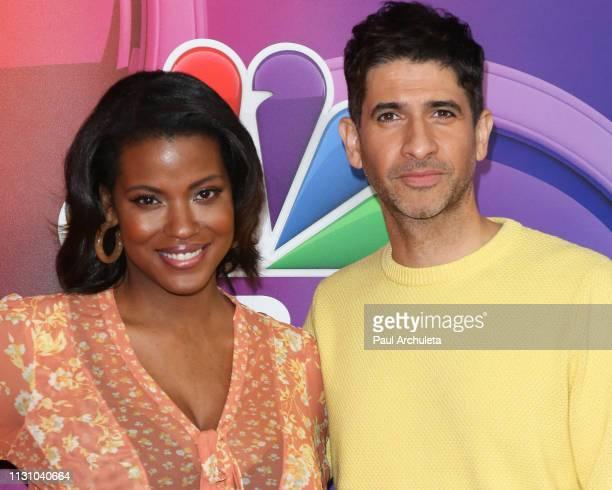 Actors Cassandra Freeman and Raza Jaffrey attend the NBC's Los Angeles midseason press junket at NBC Universal Lot on February 20 2019 in Universal...