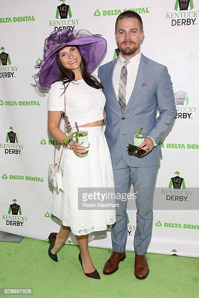 Actors Cassandra Jean and Stephen Amell attend the Delta Dental Celebrity Green Room during the 142nd Kentucky Derby at Churchill Downs on May 7,...