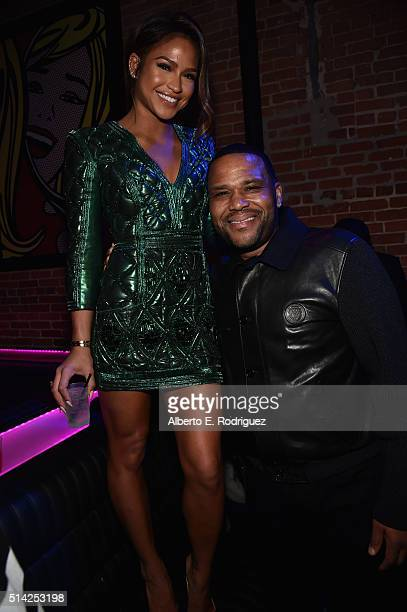 Actors Cassie Ventura and Anthony Anderson attend the after party for the premiere of Lionsgate's 'The Perfect Match' at ArcLight Hollywood on March...