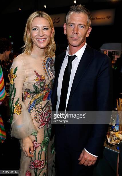 Actors Cate Blanchett and Ben Mendelsohn attend the 2016 Film Independent Spirit Awards on February 27 2016 in Santa Monica California