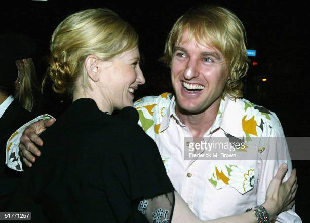 "Actors Cate Blanchett and Owen Wilson attend the film premiere of ""The Life Aquatic With Steve Zissou"" on November 20, 2004 at the Harmony Gold..."
