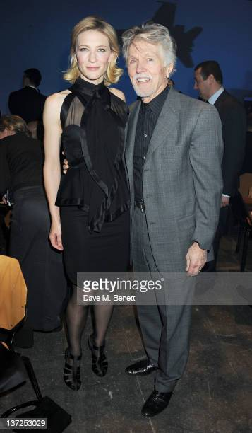 Actors Cate Blanchett and Tom Skerritt attend the IWC Top Gun Gala Event at 22nd SIHH High Jewellery Fair on at the Palexpo Exhibition Hall January...
